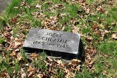 给美国被带来的犹太难民墓石在WWII以后, Oswego,纽约, 2016年 库存图片