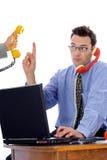 给联系打电话 免版税库存图片