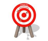 给被瞄准的箭头董事会做广告 免版税图库摄影