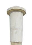 给被风化的变老的具体灰色柱子做广&# 免版税库存图片