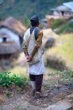 给gorkha gurung国民穿衣 免版税库存图片