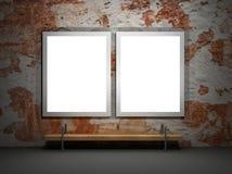 给grunge例证面板做广告 库存图片