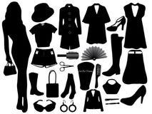 给s妇女穿衣 免版税库存照片