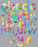 给z的动画片字体快乐的信函 免版税库存图片