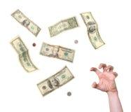 绝望贪婪保证金到达 免版税库存照片