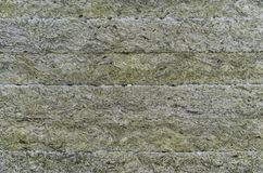 绝热材料,矿毛绝缘纤维 热量屋顶绝缘材料层数 矿棉或矿物纤维,矿物棉花,矿物 免版税图库摄影