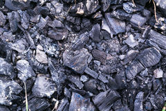 绝种火的煤炭 免版税库存照片