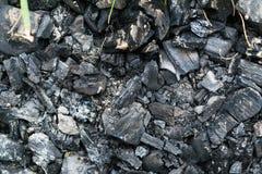 绝种火的煤炭 免版税图库摄影