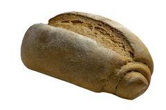 绝缘材料,在白色背景隔绝的设计元素新鲜的整个五谷大面包 免版税图库摄影