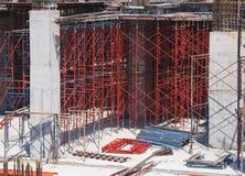 绞刑台和钢修造的工地工作建筑学产业 库存图片