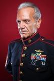 统一的退休海军陆战队员 免版税库存照片