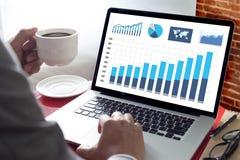 统计分析企业数据图成长增量市场 免版税库存图片