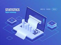 统计和分析概念,数据处理结果,经济报告,电子票据,开单系统等量传染媒介 库存图片