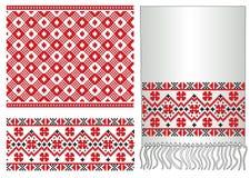 绣民间模式俄国乌克兰语 免版税库存照片