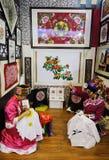 绣照片的中国qiang妇女 免版税库存照片
