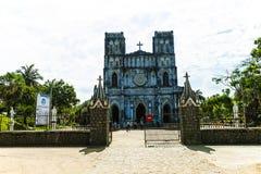绥和市, PHU YEN,越南, 2018年4月14日, :教会MangLang,富安省,越南 图库摄影