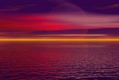 绯红色skys 库存图片