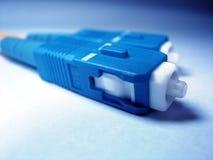 绳子光纤补丁程序 免版税图库摄影