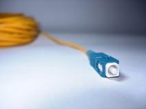 绳子光纤补丁程序 免版税库存图片