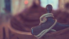 绳子软的自然布朗粗麻布串 图库摄影