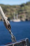 绳索滑轮 库存图片