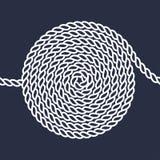 绳索螺旋无缝的样式 免版税库存图片