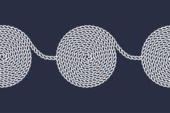 绳索螺旋无缝的样式 库存照片