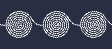绳索螺旋无缝的样式 免版税图库摄影