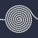 绳索螺旋无缝的样式 免版税库存照片