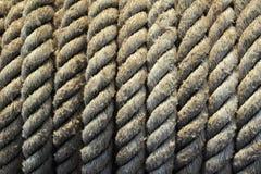 绳索,卷背景的样式 免版税库存照片