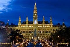 维也纳人公平地的圣诞节 库存图片