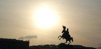 维也纳人纪念的剪影 库存照片