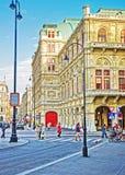 维也纳国家歌剧院议院 库存图片
