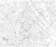 维也纳地图,城市地图,奥地利 欧洲 向量例证