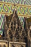 维也纳大教堂详细资料  免版税库存图片