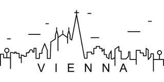维也纳概述象 能为网,商标,流动应用程序,UI,UX使用 向量例证
