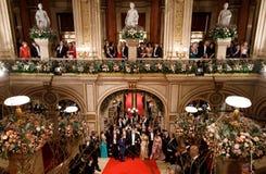 维也纳歌剧球 库存图片