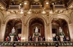 维也纳歌剧球 免版税库存照片