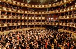 维也纳歌剧球 免版税库存图片