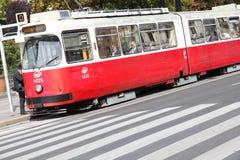 维也纳电车 免版税库存图片