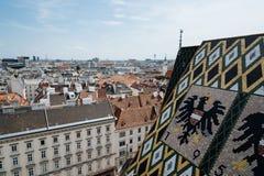 维也纳看法从大教堂屋顶的  库存图片