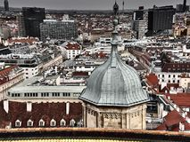 维也纳街道的看法  库存图片