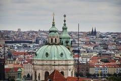 维也纳,奥地利,欧洲 可爱的暮色地平线视图从上面维也纳 偶象地标和极端普遍 免版税图库摄影