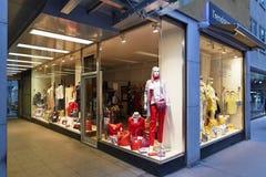 维也纳,奥地利- 2018年4月15日:商店窗口美好的设计  免版税库存图片