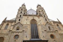 维也纳,奥地利- 2018年4月15日:圣斯蒂芬` s大教堂在维也纳 库存照片