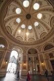 维也纳,奥地利--2018年3月07日:在霍夫堡皇宫圆屋顶圆顶的看法  免版税库存照片