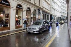 维也纳/奥地利/Mai 29日2019年:尼基・劳达的葬礼庆祝圣徒的斯蒂芬chatedral在维也纳 免版税图库摄影