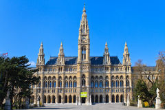 维也纳(Rathaus)市政厅 免版税图库摄影