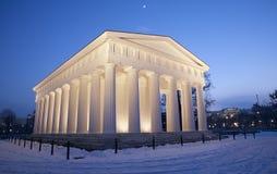 维也纳- Volksgarten。 从几年的Theseus寺庙1819年 免版税库存照片