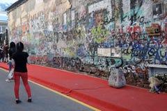 维克多・崔墙壁在莫斯科 免版税库存图片
